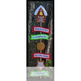 In Hoop Gingerbread Spice Yard Sign