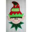 Colorful Hat Fringe Elf Applique