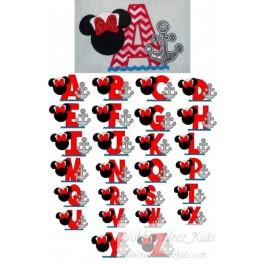 Applique Ms Mouse Sailor Specialty Font