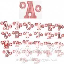 Specialty Cheer Applique with Fringe Poms Font