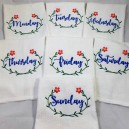 Days of the Week Flower Towel Set