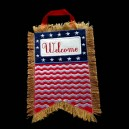Burlap Welcome Door Hanger