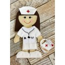 In Hoop Flat Doll Nurse Set