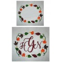 Leaves Monogram Frame Design