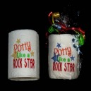 Potty Rock Star Toilet Paper Design