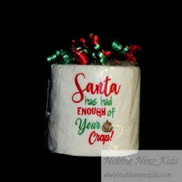 Santa Crap Toilet Paper Design