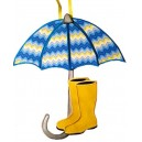 In Hoop Rainboots and Umbrella Door Hanger