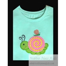 Applique Snail and Dragonfly