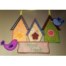 In The Hoop Birdhouse Door Hanger