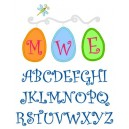 Specialty Applique Easter Egg Monogram Font