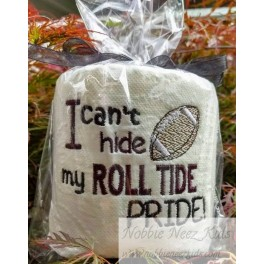 Toilet Paper Roll Tide Football