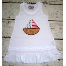 Applique 4th of July Boat