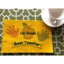 In Hoop Wholecloth Teacher Mug Rug