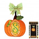 In Hoop Pumpkin Door Hanger