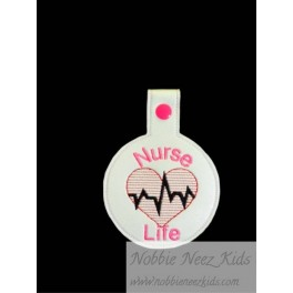 In Hoop Nurse Life Key Fob