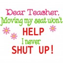 Dear Teacher Saying