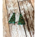 In Hoop Christmas Tree Earrings
