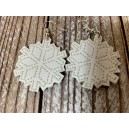 In Hoop Snowflake Earrings