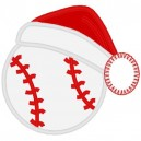 Baseball with Santa Hat
