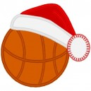 Basketball with Santa Hat