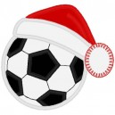Soccer Ball with Santa Hat