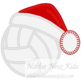 Volleyball with Santa Hat