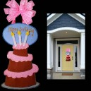 In Hoop Layered Birthday Cake Door Hanger