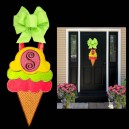 In Hoop Ice Cream Door Hanger