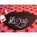In Hoop Love Tote with Lips Zipper Pull