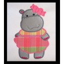 Applique Sweet Hippo