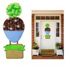 In Hoop Welcome Air Balloon Door Hanger