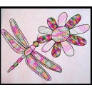 Mandala Dragonfly with Flower