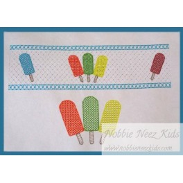 Faux Smocking Popsicles