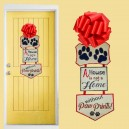 In Hoop Door Hanger Paw Prints