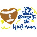 Wolverines Heart Saying