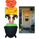 In Hoop Witch Feet Door Hanger
