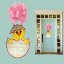 In Hoop Hatched Chick Door Hanger