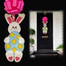 In Hoop Bunny Egg Door Hanger
