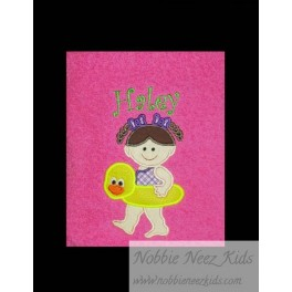Applique Rubber Duck Girl