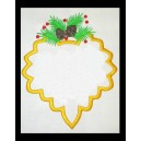 Pine Cone Frame with Bow