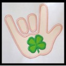 Applique Hand with Shamrock