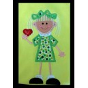 NNKids Applique Girl with Heart