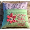 Pillow Palz Mother with 3D Flower