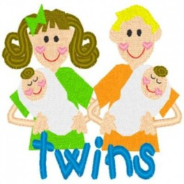 Couple with Twins
