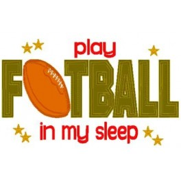Pillow Talk Football Mega Hoop Design