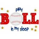 Pillow Talk Baseball Mega Hoop Design