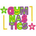 Gymnastics Applique Mega Hoop Design