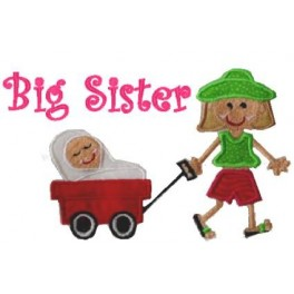 Big Sister Applique Mega Hoop Design