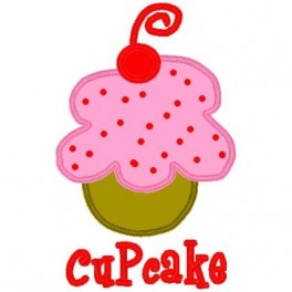 Cherry Cupcake Applique Mega Hoop Design