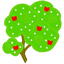 Whimsical Apple Tree Mega Hoop Design